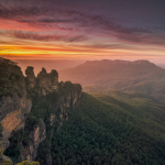 Three Sisters Mount Solitary Jamison Valley