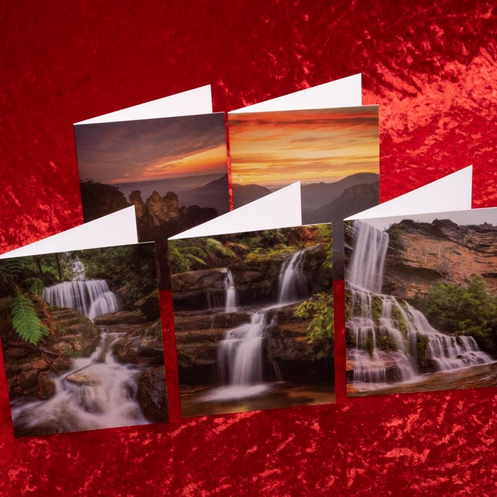 Blue Mountains Landscape Greeting Cards